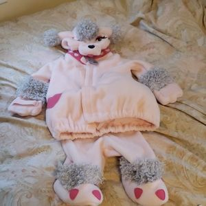 Pink poodle costume,  adorable and cozy